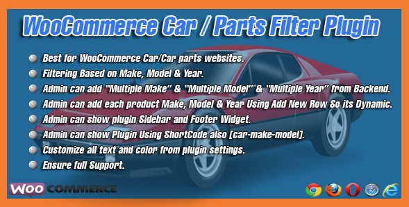 Vehicle Parts Filter plugin on category pages